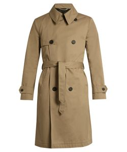 Ami | Double-Breasted Cotton-Twill Trench Coat