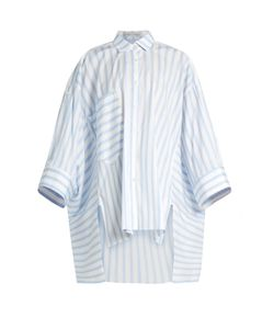 PALMER/HARDING | Poet Patch-Pocket Striped Shirt