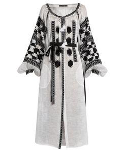 Vita Kin | Stardust Embroidered Linen Midi Dress