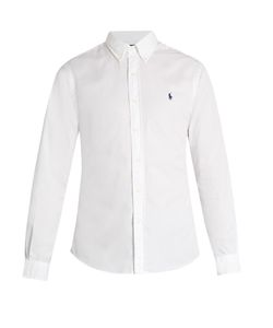 Polo Ralph Lauren   Button-Down Collar Logo-Embroidered Cotton Shirt