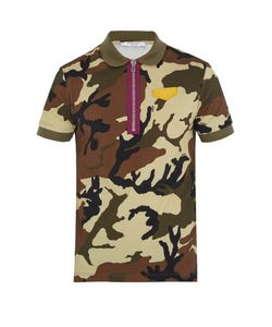 Givenchy | Cuban-Fit Camouflage-Print Cotton Polo Shirt