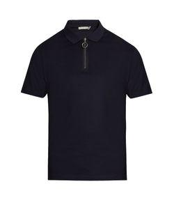 Vince   Zip-Detail Cotton-Piqué Polo-Shirt