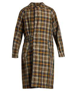 Kolor | Checked Crinkle-Noil Trench Coat
