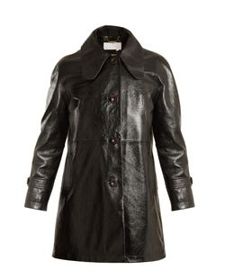 Chloe | Single-Breasted Patent-Leather Coat