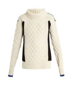Preen Line | Ellise Cable-Knit Wool-Blend Sweater