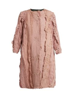 BY WALID | Lace-Appliqué Cotton Coat