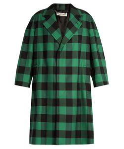 Balenciaga | Godfather Bi-Colour Checked Oversized Coat