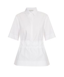 Cedric Charlier | Belt-Waist Cotton-Poplin Shirt