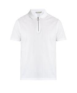 Vince   Zip-Detail Cotton-Piqué Polo Shirt