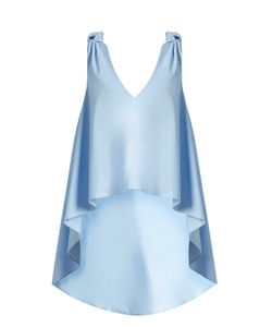 Natasha Zinko | Waterfall-Hem Sleeveless Cotton-Poplin Top