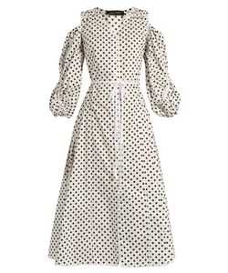 ANNA OCTOBER | Polka-Dot Cotton-Poplin Dress