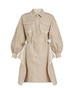 Fendi | Striped Cotton-Blend Dress