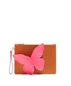 Sophia Webster | Flossy Butterfly Leather Pouch