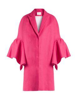 Delpozo   Fluted-Sleeved Linen Coat