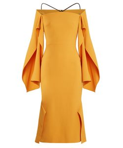 Roland Mouret | Andover Off-The-Shoulder Crepe Midi Dress