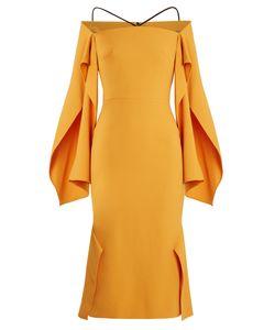 Roland Mouret | Andover Off-The-Shoulder Crepe Midi Dress