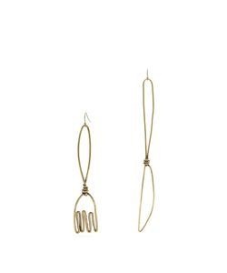 Rosie Assoulin   Fork And Knife-Drop Earrings