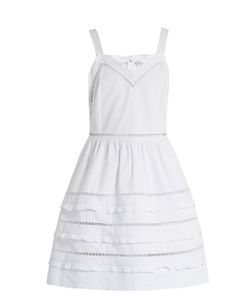 Red Valentino | Ladder-Lace Trimmed Cotton Dress
