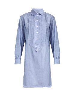 Burberry | Bib-Front Cotton-Chambray Shirtdress