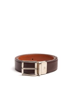 Dunhill | Grained-Leather Belt