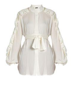 Ellery | Audacity Ruffled-Sleeve Silk-Blend Blouse