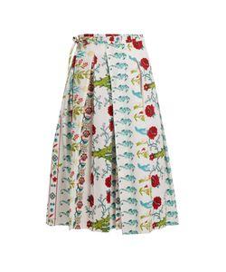LE SIRENUSE, POSITANO | Clio Garden-Print Cotton Wrap Skirt