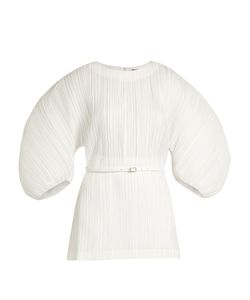 Jil Sander | Extreme Balloon-Sleeve Plissé-Pleated Poplin Top