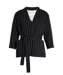 Acne | Jada V-Neck Striped-Wool Jacket