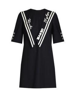 Dolce & Gabbana | Embroide Sailor-Collar Gabardine Dress