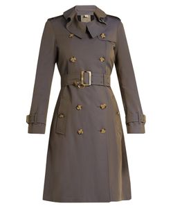 Burberry | Townley Ruffled-Collar Cotton Trench Coat
