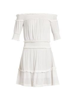 CECILIE COPENHAGEN | Off-The-Shoulder Scarf-Jacquard Dress