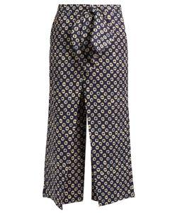 Stella Jean | Storica Circle-Print Cropped Linen Trousers
