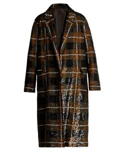 Ashish | Checked Sequin-Embellished Cotton Coat