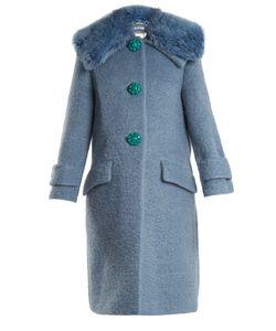Miu Miu | Faux-Shearling Trimmed Mohair-Blend Bouclé Coat