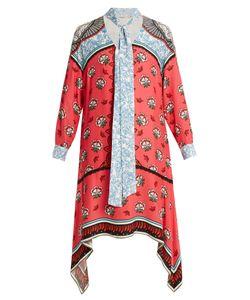 Mary Katrantzou | Hearts Kings-Print Neck-Tie Silk Dress