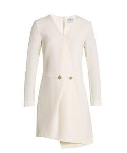 OSMAN | Theresia Wool-Crepe Asymmetric Dress