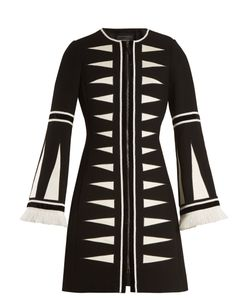 Andrew Gn | Geometric-Appliqué Wool-Blend Coat