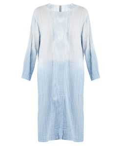 Raquel Allegra | Round-Neck Long-Sleeved Cotton-Gauze Dress