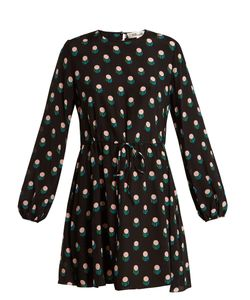 Diane Von Furstenberg | Casimir-Dot Print Silk-Crepe Mini Dress