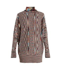 Missoni | Roll-Neck Striped Wool-Blend Dress