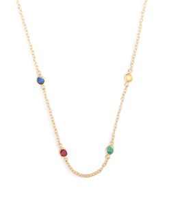ALISON LOU | Sapphire Ruby Emerald Twister Necklace