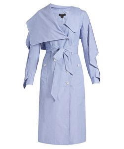 Burberry | Ruffled Cotton-Chambray Shirtdress