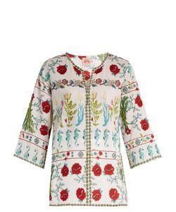 LE SIRENUSE, POSITANO | Garden-Print Cotton Kaftan