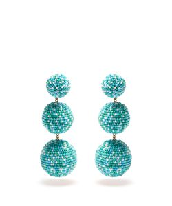 Rebecca De Ravenel | Bead-Embellished Drop Clip-On Earrings