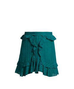 Isabel Marant Étoile | Yugi Frilled-Hem Cotton Mini Skirt