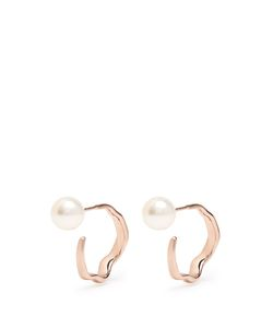 LUCY FOLK | Relic Mini Pearl And Plated Earrings