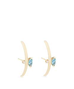 LOREN STEWART | Diamond Topaz And Earrings