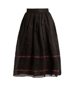 Jupe By Jackie | Seven And Seven Embroidered Cotton-Organdy Skirt