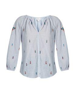 Velvet by Graham & Spencer | Shailene Embroidered Striped Cotton Top