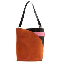 HILLIER BARTLEY | Cigar Suede And Leather Tote